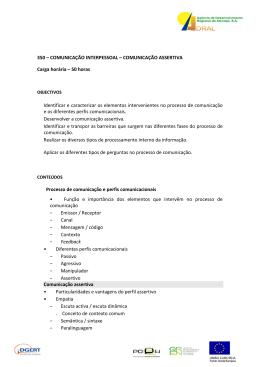 350 – COMUNICAÇÃO INTERPESSOAL