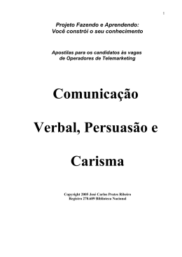 apostilas – comunicação verbal, persuasão e carisma