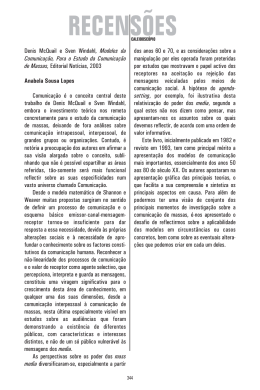 Denis McQuail e Comunicação de Massas