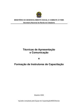 Apostila - Técnicas de Apresentação e Comunicação