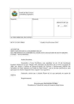 Proposição - Assembleia Legislativa do Estado de Mato Grosso