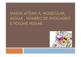 Massa atômica, massa molecular