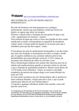 MECANISMO DE AÇÃO DO MEDICAMENTO