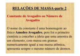RELAÇÕES DE MASSA-parte 2