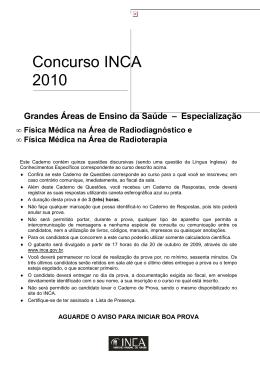 Concurso INCA 2010 - Instituto Nacional de Câncer