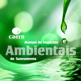 Manual de Impactos Ambientais do Saneamento