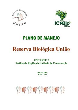 Reserva Biológica União PLANO DE MANEJO