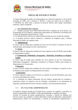 edital nº 01/2015 - Câmara Municipal de Itatiba