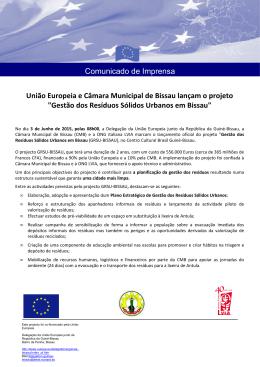 União Europeia e Câmara Municipal de Bissau lançam o