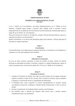 Regimento da Câmara Municipal de Seia_____________