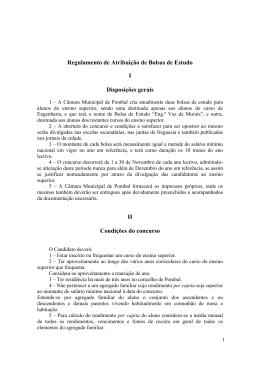 Regulamento de Atribuição de Bolsas de Estudo I Disposições