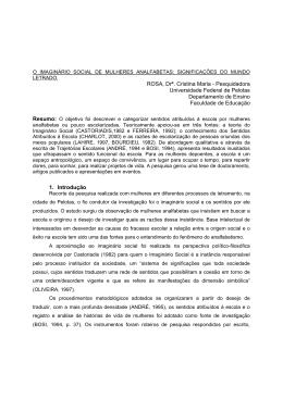 ROSA, Drª. Cristina Maria - Pesquidadora Universidade Federal de