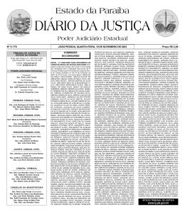 Diario da Justi a 29-05-2001 - Tribunal de Justiça da Paraíba