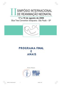 Programa e Anais com 54 Temas Livres apresentados como