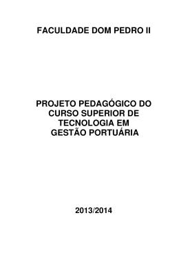 PPC Gestão Portuária - Faculdade Dom Pedro II