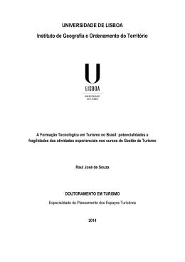 UNIVERSIDADE DE LISBOA Instituto de Geografia e Ordenamento