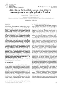Assistência farmacêutica como um modelo tecnológico em atenção