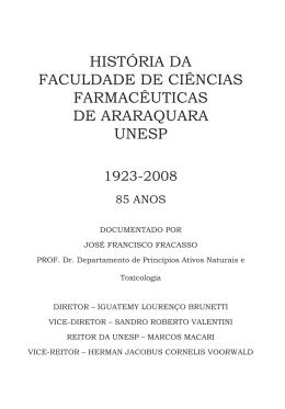 HISTÓRIA DA FACULDADE DE CIÊNCIAS FARMACÊUTICAS DE