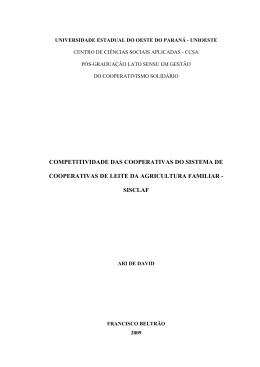 competitividade das cooperativas do sistema de