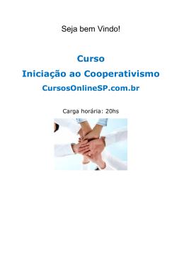 Curso Iniciação ao Cooperativismo