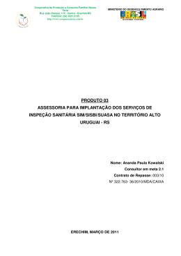 P 3_ANANDA - Cooperativa de Produção e Consumo Familiar