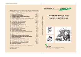Agrodok-10-A cultura de soja e de outras leguminosas