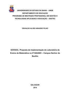 GOOGOL: Proposta de implementação do Laboratório de Ensino de