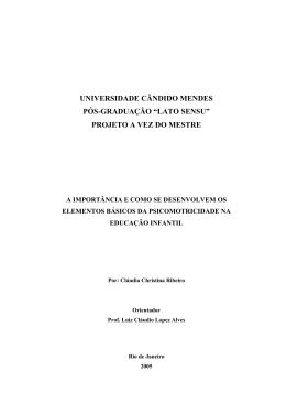 """universidade cândido mendes pós-graduação """"lato sensu"""" projeto a"""