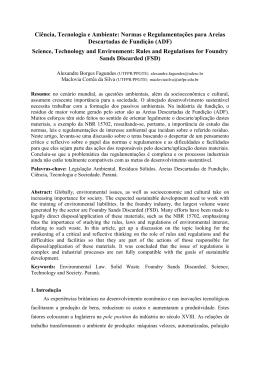 Ciência, Tecnologia e Ambiente: Normas e Regulamentações para
