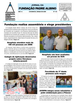Março/2009 - Fundação Padre Albino