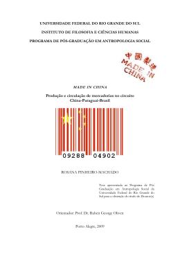 Produção e circulação de mercadorias no circuito China