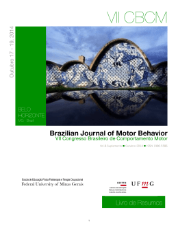 Brazilian Journal of Motor Behavior
