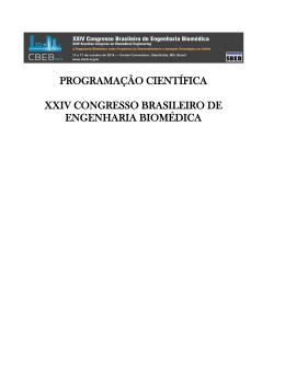 programação científica xxiv congresso brasileiro de