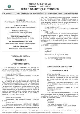31 - Tribunal de Justiça de Rondônia