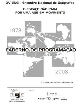 Untitled - Associação dos Geógrafos Brasileiros