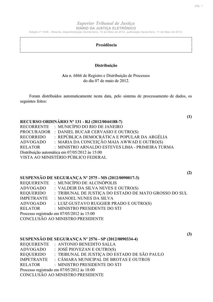 e38aa2c72 Superior Tribunal de Justiça