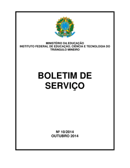 BOLETIM DE SERVIÇO