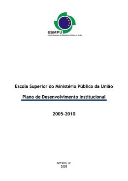 Plano de Desenvolvimento Institucional 2005-2010