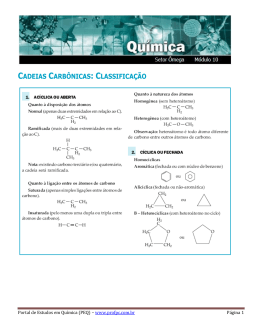 classificação - Portal de Estudos em Química