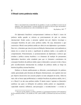 3 O Brasil como potência média - Maxwell - PUC-Rio
