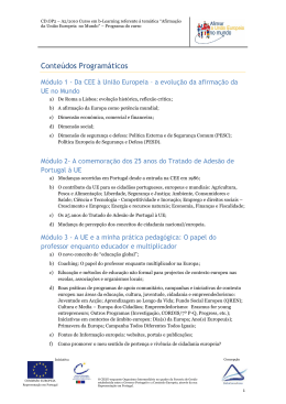 Programa do curso