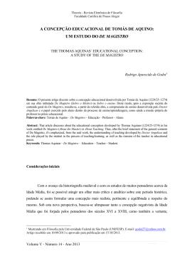a concepção educacional de tomás de aquino: um estudo