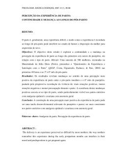 Psicologia, Saúde & Doença.2007