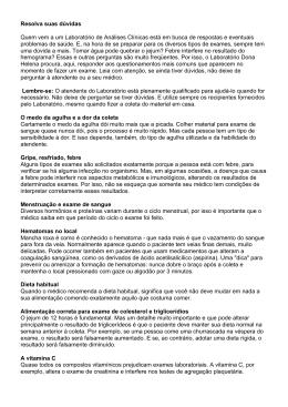 Manual do Laboratório - Hospital Dona Helena