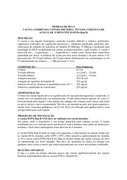 MODELO DE BULA VACINA COMBINADA CONTRA DIFTERIA