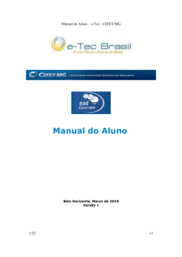 Manual do Aluno - CEFET-MG e-Tec