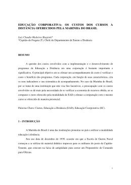 os custos dos cursos a distância oferecidos pela marinha do brasil