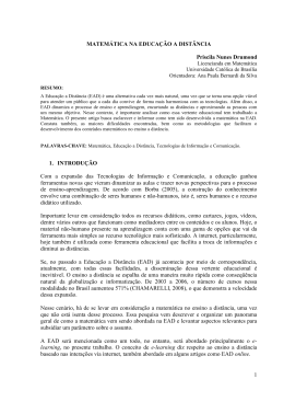 Matemática, Educação a Distância - Universidade Católica de Brasília