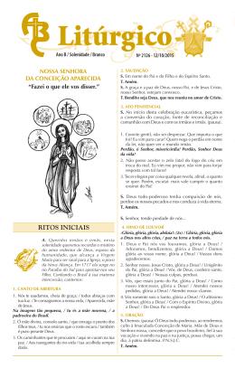 nº 2126 — 12/10/2015 — nossa senhora da conceição aparecida