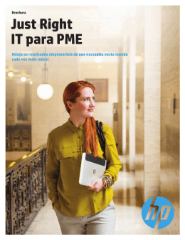 HP Just Right IT: servidores, armazenamento, funcionamento em